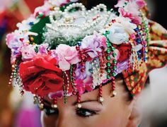 Polish adorned and decorative headpiece Learn Polish, Polish People, Polished Man, Folk Clothing, Folk Embroidery, Exotic Beauties, My Roots, Folk Costume, My Heritage