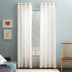 $31ea.  sale Cotton Canvas Grommet Curtain - White | west elm