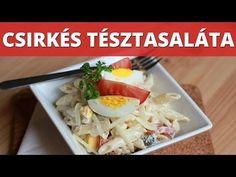 Csirkés tésztasaláta videó recept - YouTube Penne, Dairy, Cheese, Chicken, Meat, Food, Youtube, Eten, Meals