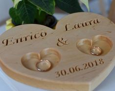 Personalized Wood Ring Box Wedding Ring Bearer Pillow Rustic Wedding Ring Holder Wood Heart Ring Bearer Rustic Wedding Decor - Cell Phone Finger Holder - Ideas of Cell Phone Finger Holder - Personalized Wood Ring Box Wedding Ring Bearer Pillow Rustic Rustic Wedding Rings, Heart Wedding Rings, Heart Ring, Ring Holder Wedding, Ring Pillow Wedding, Ring Bearer Pillows, Wood Rings, Wedding In The Woods, On Your Wedding Day