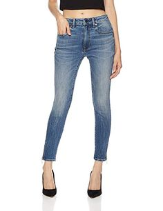 edc6d9d19a8 HALE Women s Lily Stunner Mid Rise Skinny Cropped Jean With Zipper Leg  Closure 27 Maisie Cropped