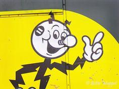 Reddy Kilowatt, Edison's lovely old icon/cartoon character.