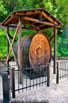 Old wine cask at Buena Vista a Winery in Sonoma