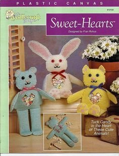 Sweet-Hearts Candy Keeper Animals Plastic Canvas Pattern Book The Needlecraft Shop 913104 by grammysyarngarden on Etsy