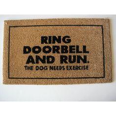 lol   Geo Crafts Ring Door Bell Doormat