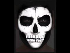 Skull Face Paint Makeup Tutorial. NK - YouTube
