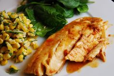 Tilapia Recipe – 6 Points   - I changed up a little and used Ken's Light Asian Sesame with Ginger & Soy Salad dressing