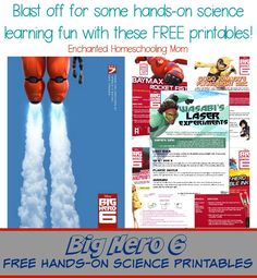 5 fun and free hands-on science lessons themed to Disney Pictures Big Hero 6! #BigHero6 #MeetBaymax
