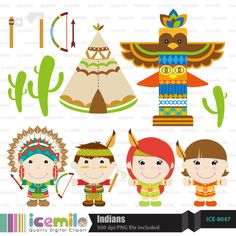 Indians by IcemiloClipart on Etsy, $4.50
