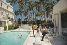 A swimming pool in Palm Beach, Florida, 1968.