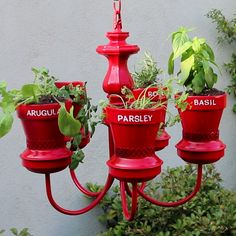 An Old Chandelier Into This Magical Herb Garden - Nifty Plants & Gardenin. An Old Chandelier Into This Magical Herb Garden - Nifty Plants & Gardenin. Easy indoor garden ideas you can do at home. Garden Crafts, Garden Projects, Diy Projects, House Projects, Recycled Garden Art, Cat Crafts, Pallet Projects, Old Chandelier, Chandelier Planter