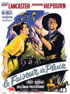 BURT LANCASTER - KATHARINE HEPBURN - LE FAISEUR DE PLUIE - (JOSEPH ANTHONY 1956)