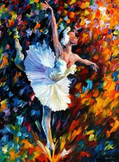 Dance Of The Soul by Leonid Afremov - Ballerina / Bailarina / Балерина / Dancer / Dance / Ballet