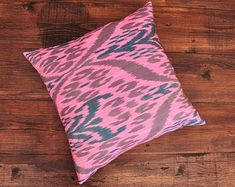 ikat fabric throw pillow ikat cushion suzani decor by DecorUZ Ikat Pillows, Velvet Pillows, Cushions, Velvet Upholstery Fabric, Ikat Fabric, Printed Silk Fabric, Gorgeous Fabrics, Handmade Pillows, Hand Weaving