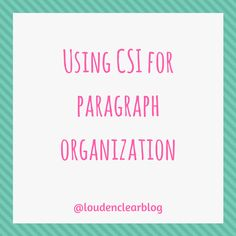 A paragraph structure that helps students organize their thoughts into paragraphs. Paragraph Structure, High School English, English Classroom, Reading Workshop, Literacy, Insight, Organize, Presentation, Students