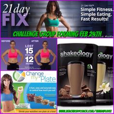 FEB 24th. 21 DAY FIX CHALLENGE GROUP. lose 10-15lbs in 21days.Simple easy to follow nutrition plan and help with portion control. Only 30 min workouts. Available Feb 9th Contact me on Facebook to sign up at www.tinaduplayee.com or goto my website to purchase www.beachbodycoach .com/tinaduplayee  #21dayfix #beachbodychallenge #beachbody #shakeology #badasseryfitness #beachbody #getfit #loseweight #nevergiveup #icanhelp