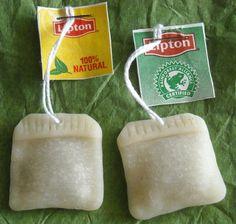 2 Miniature tea bags Original 100 handmade by CobaltMoonJewelry, $5.00