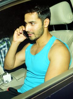 Varun Dhawan snapped while talking on the phone. #Bollywood #Fashion #Style #Handsome