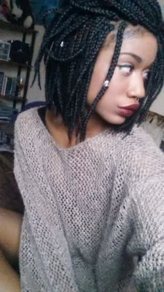 bobbed box braids .. I really might want to try these one day