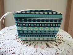 Aztec Tribal Bohemian Cosmetic Bag Clutch by Antiquebasketlady