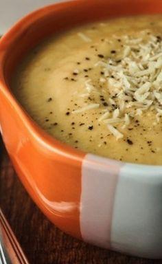 Eat Your Veggies! Cheesy Cauliflower Soup - yuuummmm!!! - minus the cheese