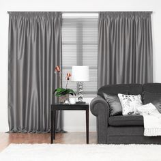 Metropolis thermal blockout pencil pleat readymade curtains in Pewter