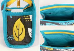 Beautifully detailed zippered case. The pattern is by Erin Erikson and the fabric is by Jessica Jones http://howaboutorange.blogspot.co.uk/2013/09/roundup-of-free-bag-tutorials.html
