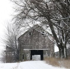 This is for my husband, who is insistent on having an old barn on our property someday. Love the look!!