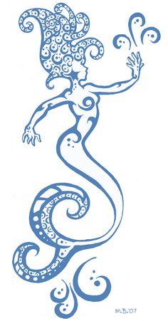 Tribal Mermaid Tattoos for Girls Wolf Tattoos, Finger Tattoos, New Tattoos, Girl Tattoos, Tatoos, Mermaid Tattoo Designs, Mermaid Tattoos, Mermaid Drawings, Harry Potter Tattoos