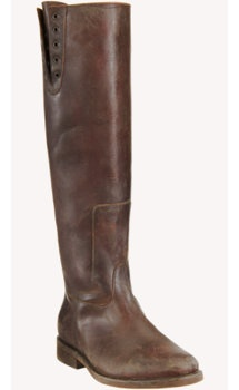 Brown weathered boot.