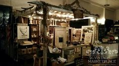 Vintage Inspired signs & decor The Vintage Marketplace 143 st Street Spfld, Oregon Booth Display Arbor