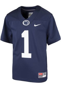 7df88253618 Nike Penn State Nittany Lions Toddler Navy Blue Replica Jersey, Navy Blue,  100%