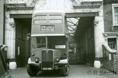 16th April 1971  RLH 61 leaving Dalston garage