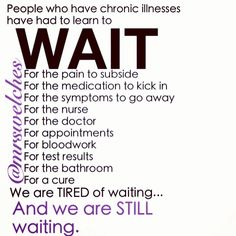 Waiting for a cure. Endometriosis, intersitial cystitis, adhesion syndrome