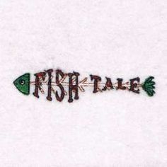 "This free embroidery design from Embroidery Machine Designs is a called ""Fish Tale""."