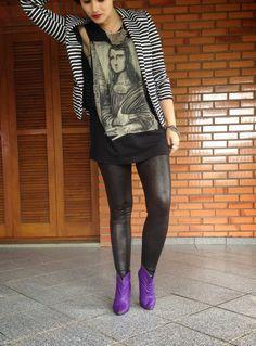 Mundo K: LOOK ESXPRESS: Blazer e camiseta.