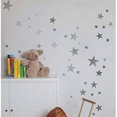 55 Mixed Star Stickers Baby Room Decals, Nursery Wall Stickers, Wall Decal Sticker, Nursery Wall Art, Vinyl Decor, Home Decor Wall Art, Bedroom Decor, Vinyl Art, Art Decor