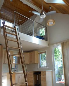 34 Genius Loft Stair for Tiny House Ideas - ArchiteSpace