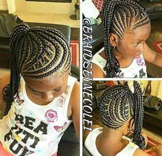 Little girl braids, protective style...