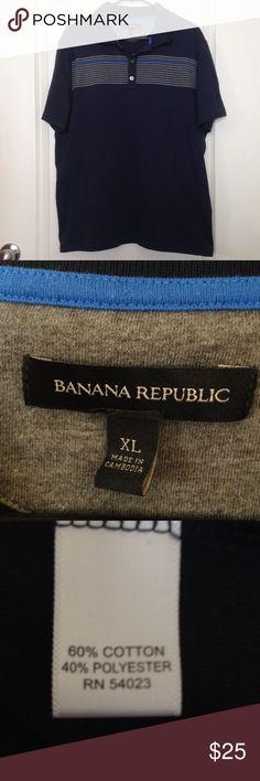 Banana Republic performance stripe polo size XL Banana Republic performance stripe polo size XL. Good condition! Banana Republic Shirts Polos