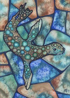 Tamara Phillips | WATERCOLOR | California Sea Lion
