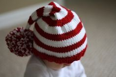 PDF Pattern for Hand Knit Christmas Stocking Hat Baby to Child (20)