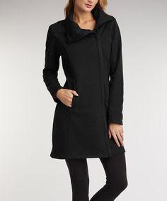 Love this Black Organic Zip-Up Jacket on #zulily! #zulilyfinds