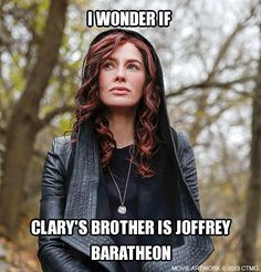 Create your own memes and share with fellow Shadowhunters! The Mortal Instruments City of Bones in theaters August 21. http://www.MortalMemes.com/ Keep those Shadowhunter memes coming-this girl is eating them up!
