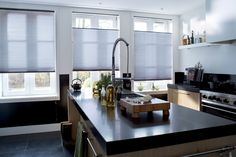 Discover the original honeycomb blind for style & energy efficiency. Find the perfect Duette blinds for your home. Book a FREE design consultation! Kitchen Window Treatments With Blinds, Kitchen Blinds, Blinds For Windows, Window Coverings, Contemporary Windows, Honeycomb Shades, House Blinds, Blackout Blinds, Cool Kitchens