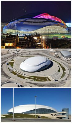 bolshoy ice dome lights up sochi 2014 winter olympics