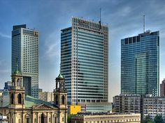 The financial centre of Warsaw