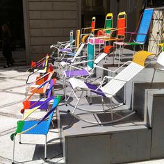 New take on an old classic...I love the rocking chair one!    MARNI CHAIRS AT MILAN DESIGN WEEK
