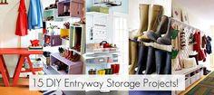 15 DIY Entryway Storage Projects