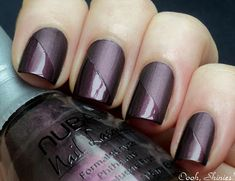 Really have to get a matte top coat! I love this two tone look.